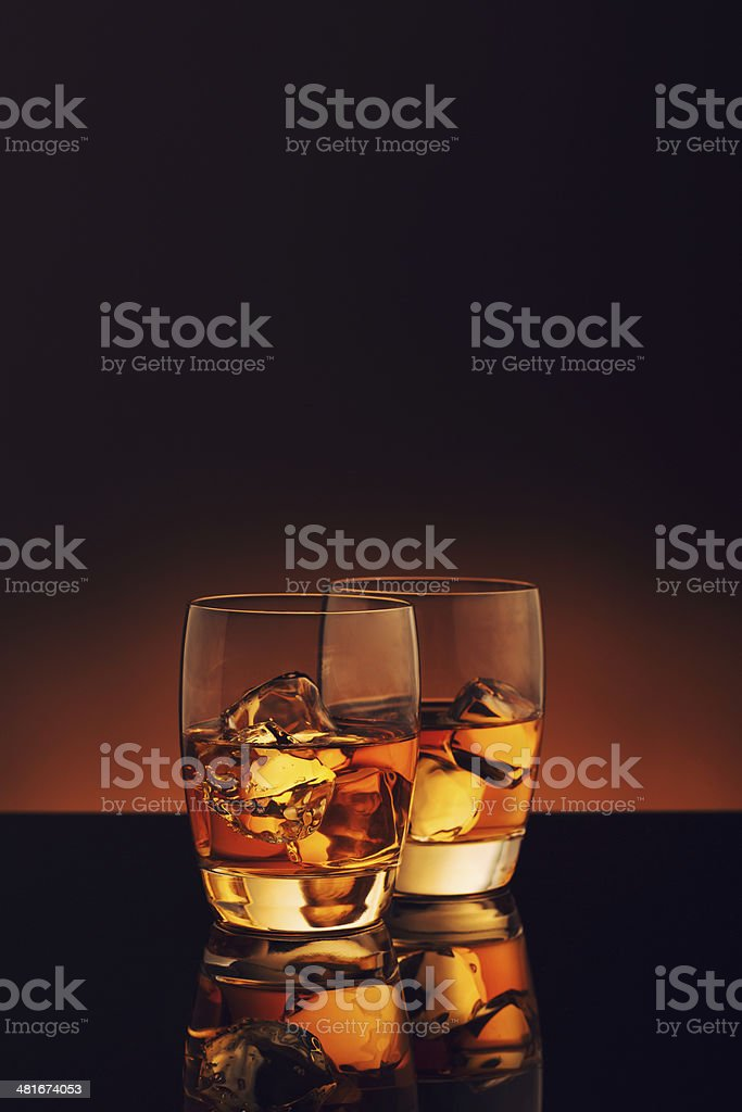 Whiskey on Ice royalty-free stock photo
