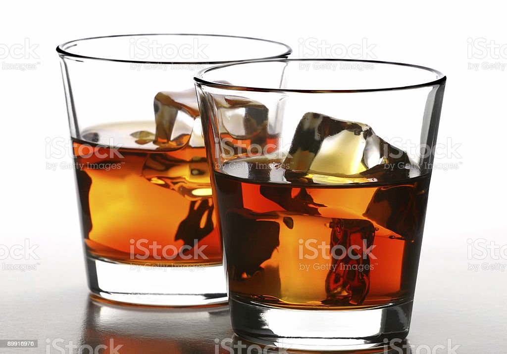 whiskey on rocks royalty-free stock photo
