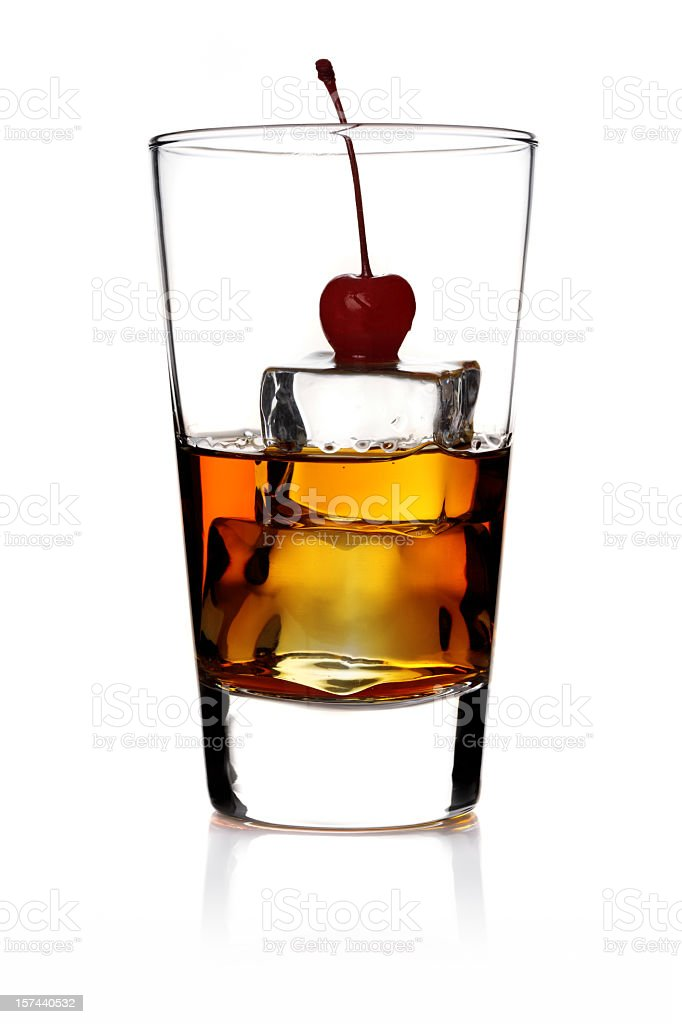 whiskey on the rock royalty-free stock photo