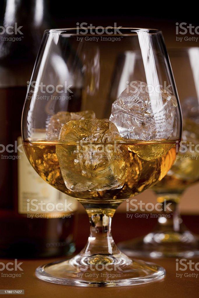Whiskey on the rocks royalty-free stock photo