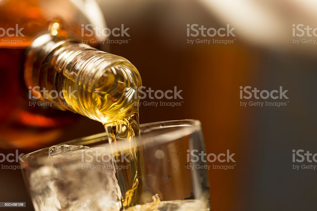 Whiskey on the Rocks stock photo