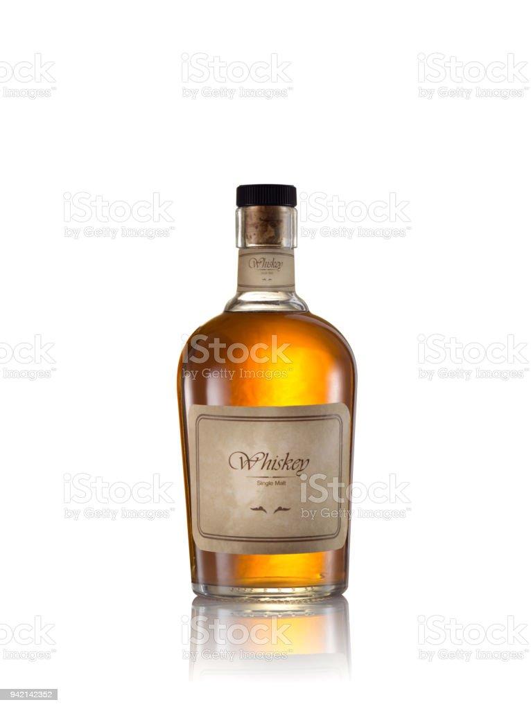 whiskey on white stock photo