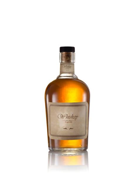 whiskey on white