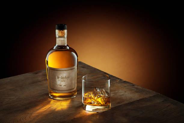 whiskey on wood