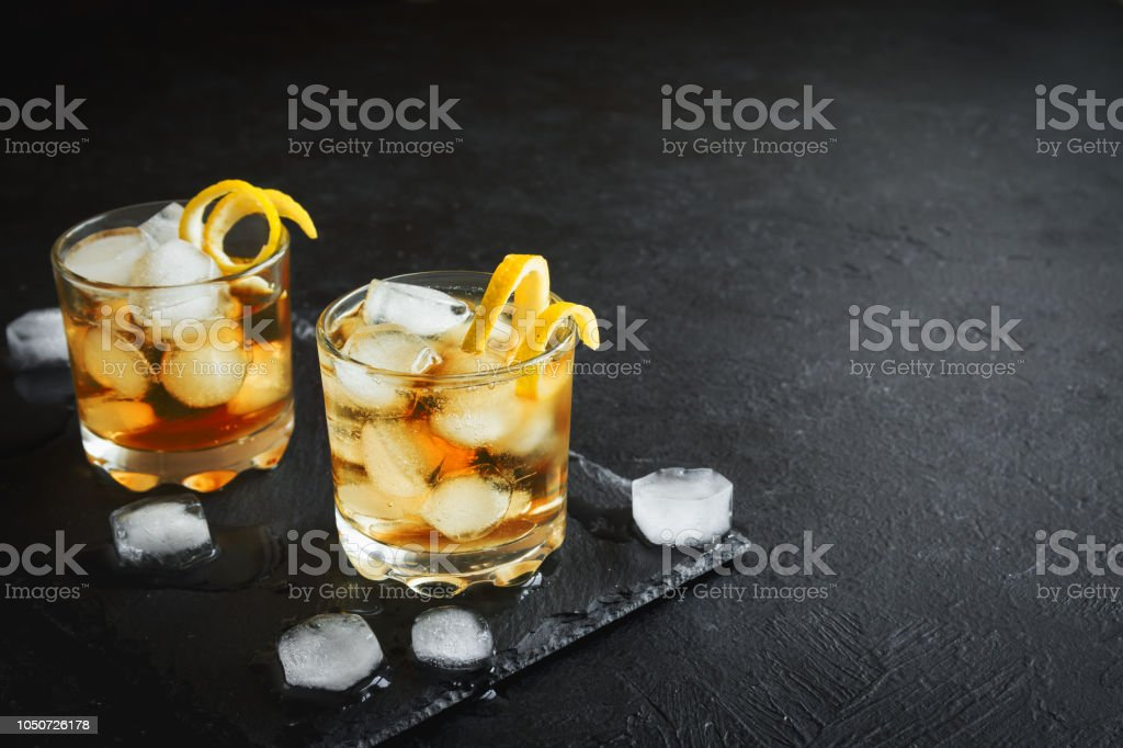 Whiskey or Rum stock photo