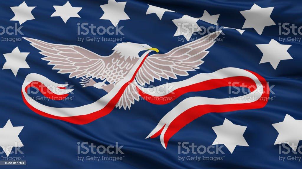 Whiskey Rebellion Flag, Closeup View stock photo