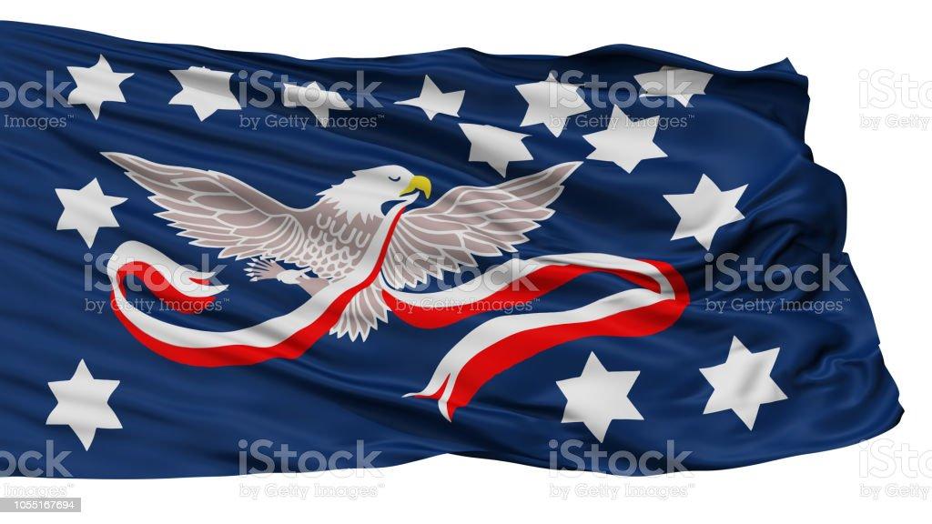 Whiskey Rebellion Flag, Isolated On White stock photo