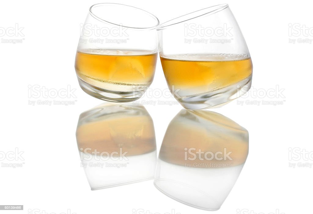 Whiskey Reflected royalty-free stock photo