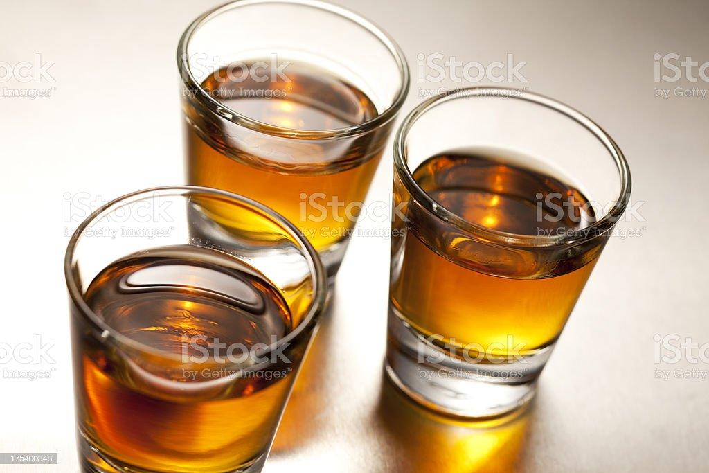 Whiskey Shots stock photo