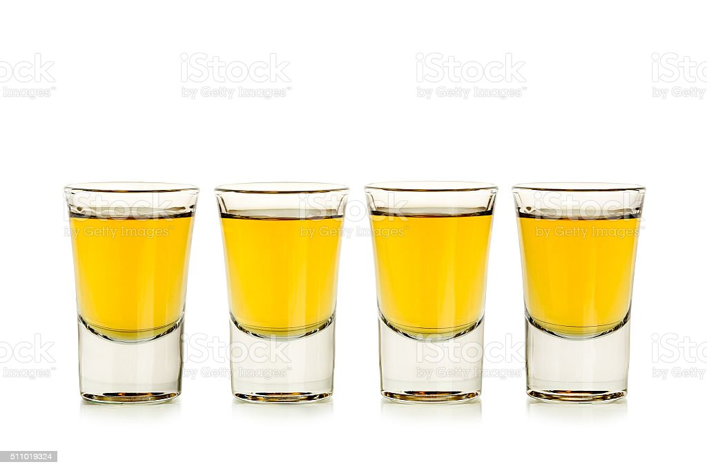 whiskey shots stock photo