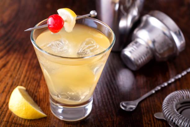 Whiskey Sour Cocktail stock photo