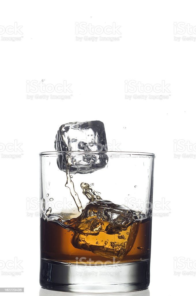 Whiskey splash royalty-free stock photo