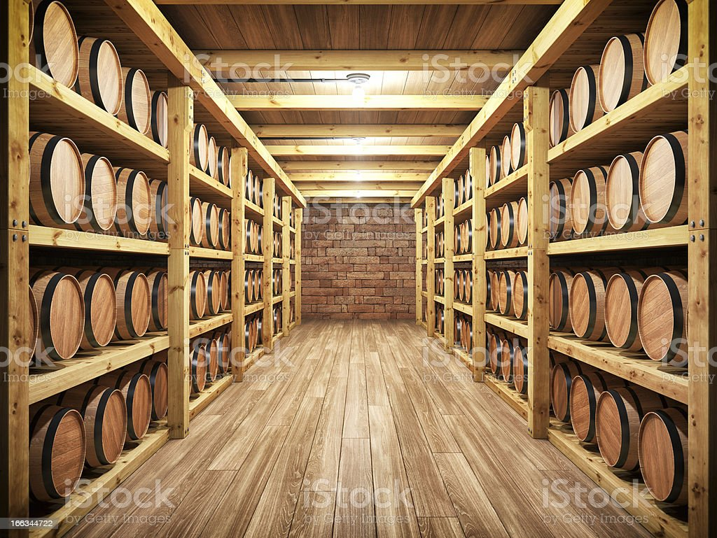 Whiskey / Wine Cellar stock photo