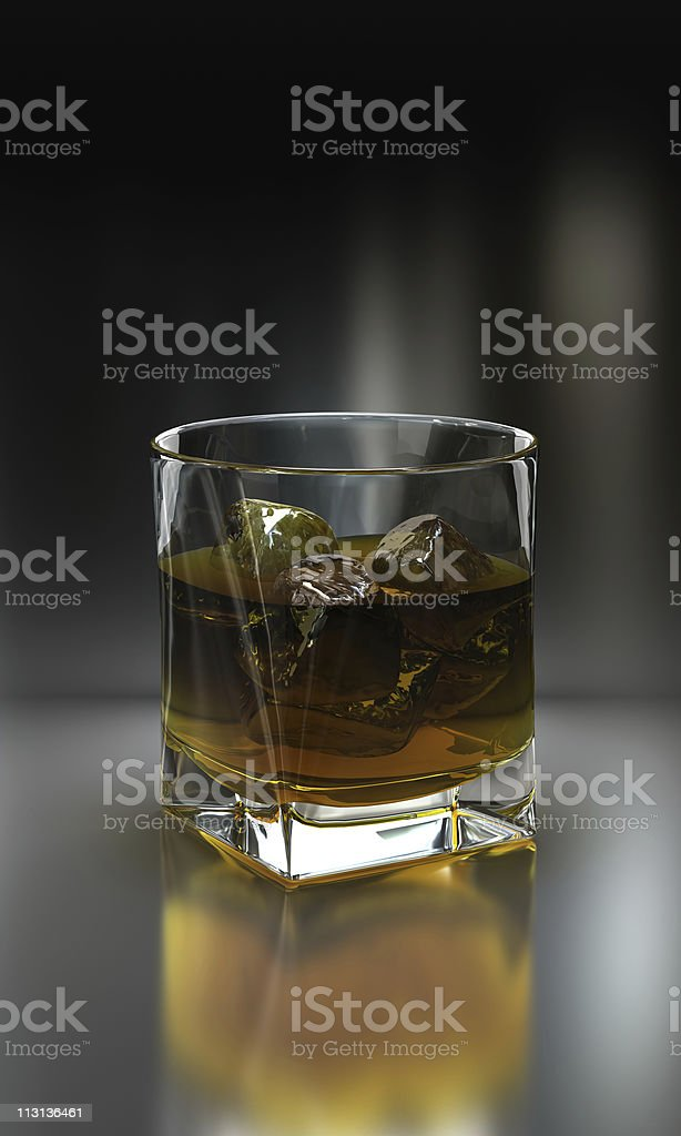 Whiskey with ice royalty-free stock photo