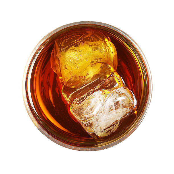 whiskey with ice - whiskey stock photos and pictures