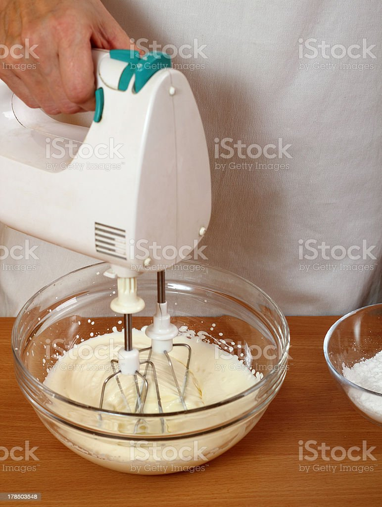 Whisking Cream for filling royalty-free stock photo