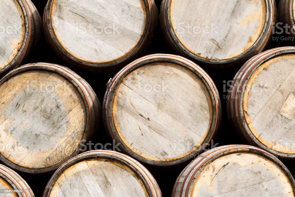 Whisky barrels royalty-free stock photo