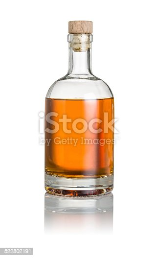 istock Whisky bottle on a white background 522802191