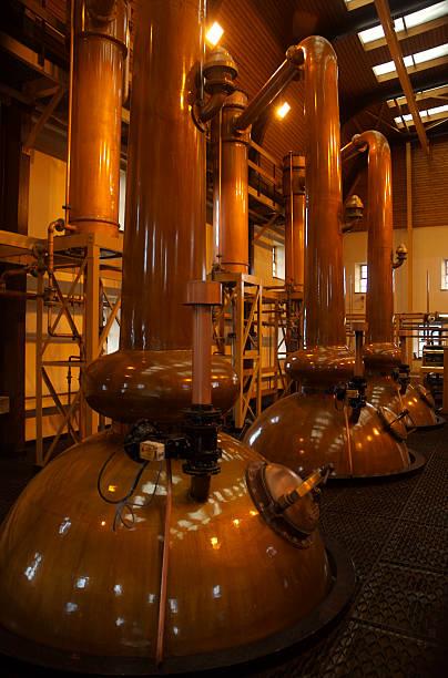 Whisky distillery stock photo