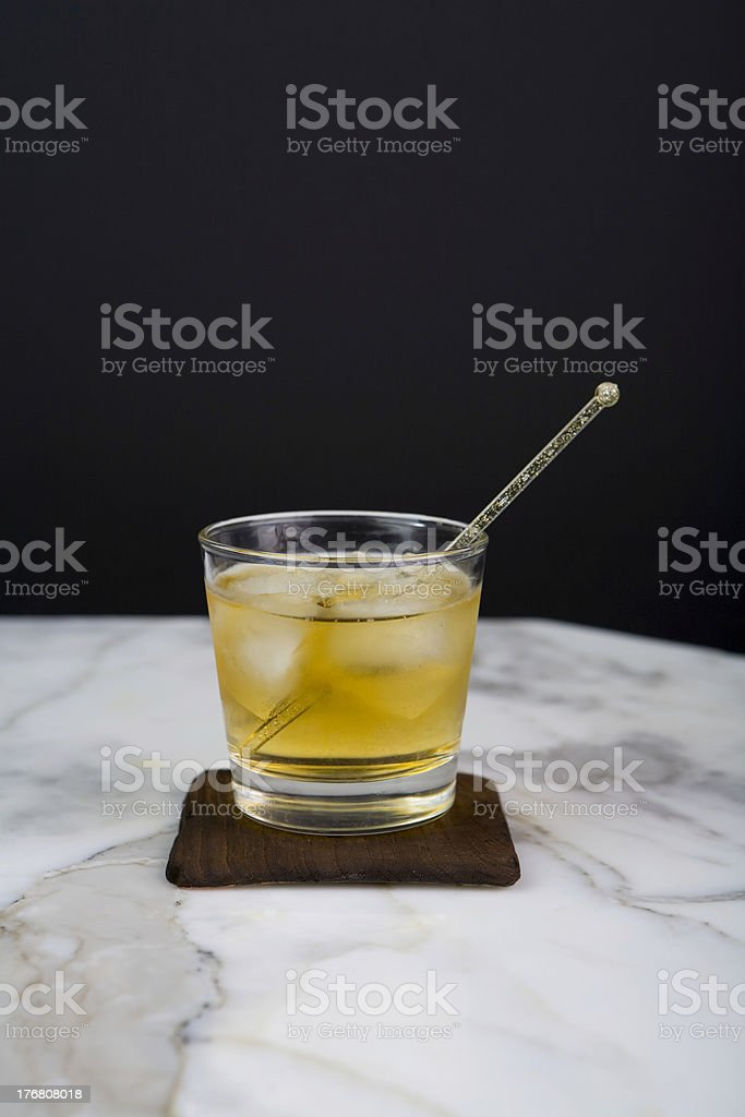 whisky drink on marble stock photo