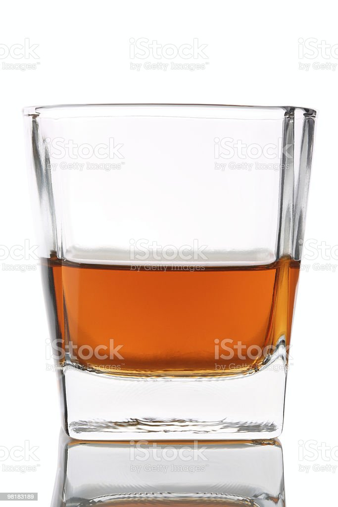 Whisky Glass without Ice royalty-free stock photo