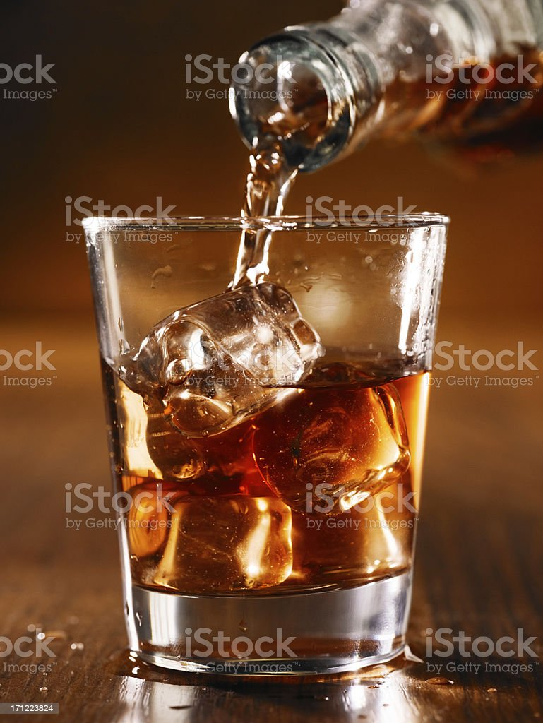 whisky on rock royalty-free stock photo
