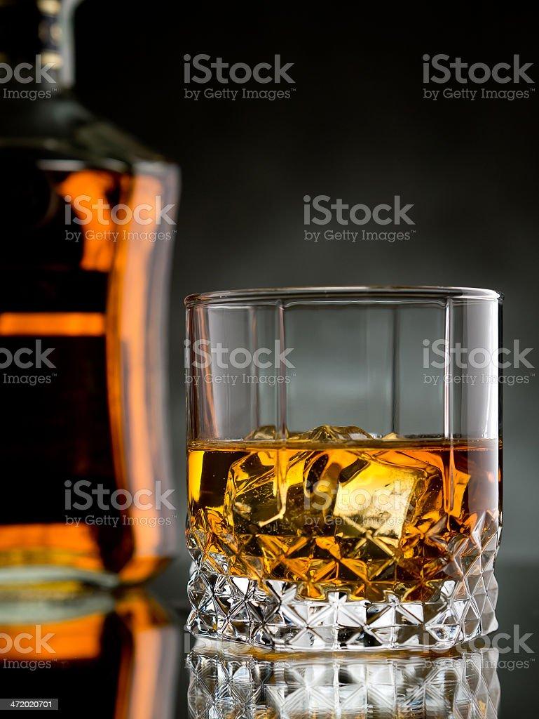 Whisky on the rocks royalty-free stock photo