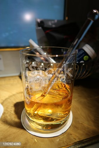 istock Whisky /or/ scotch /or/ brandy on the rock 1252624080