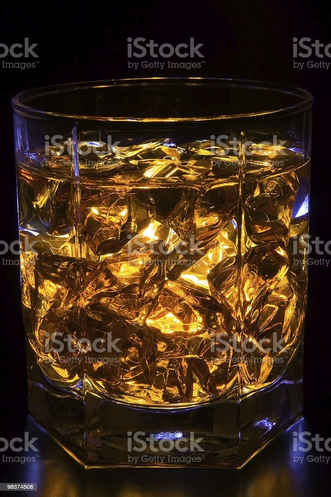 Whisky with ice royalty-free stock photo