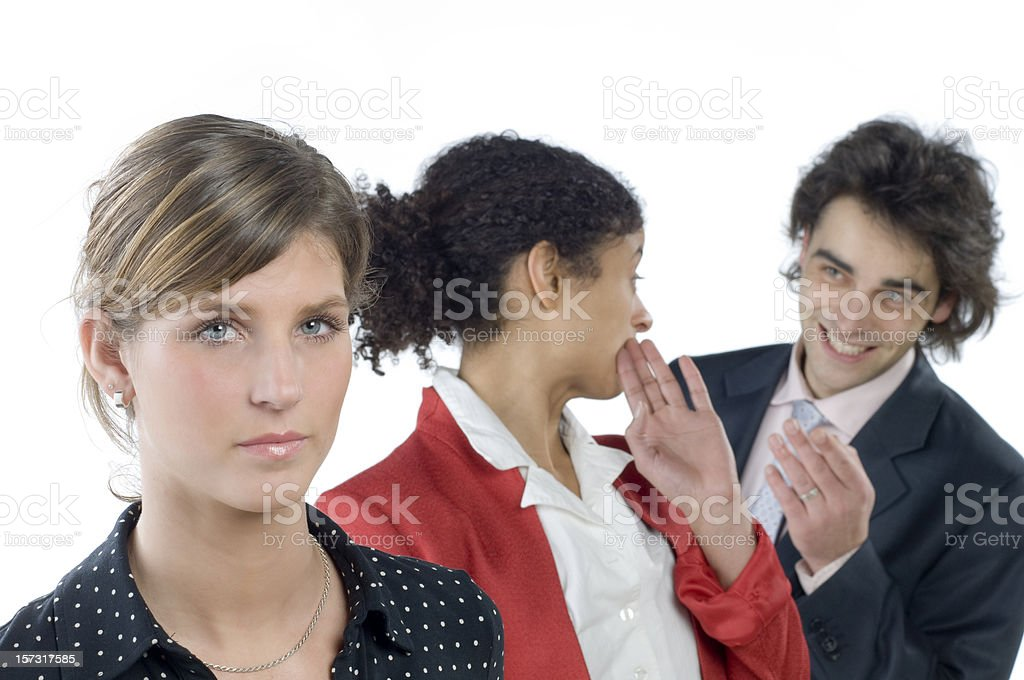 whispering business team royalty-free stock photo