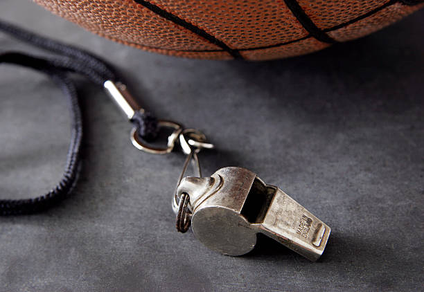 Whistle and Basketball stock photo