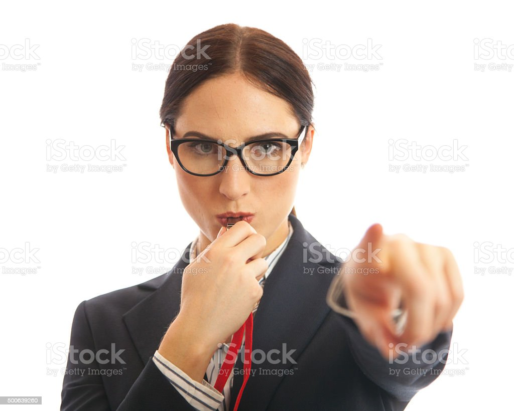 Whistle Blower stock photo