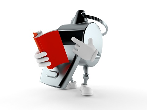 istock Whistle character reading a book 1268232718
