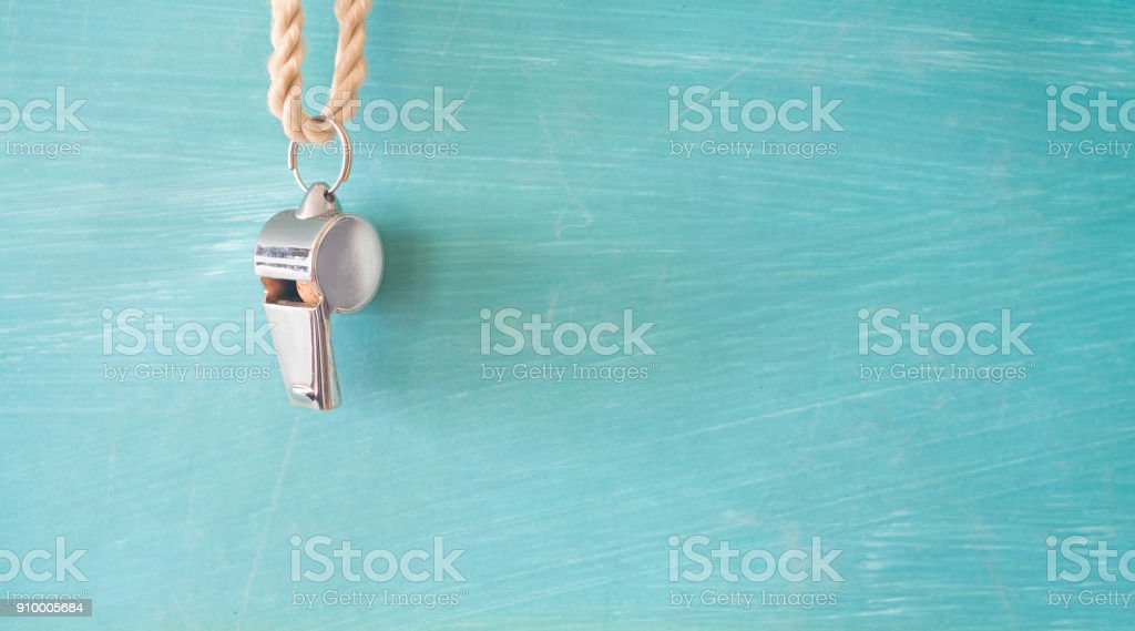 whistle of a soccer referee or coach royalty-free stock photo