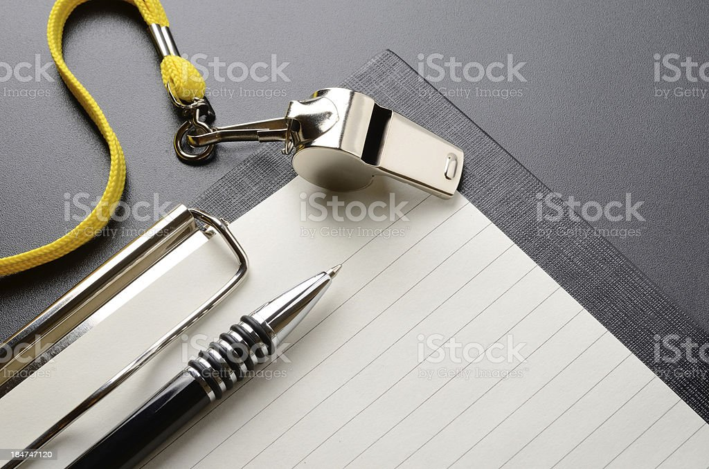 Whistle stock photo