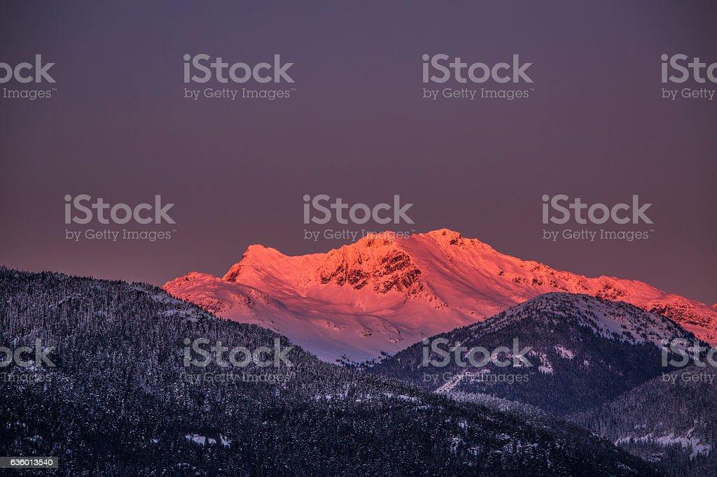Whistler alpenglow. stock photo