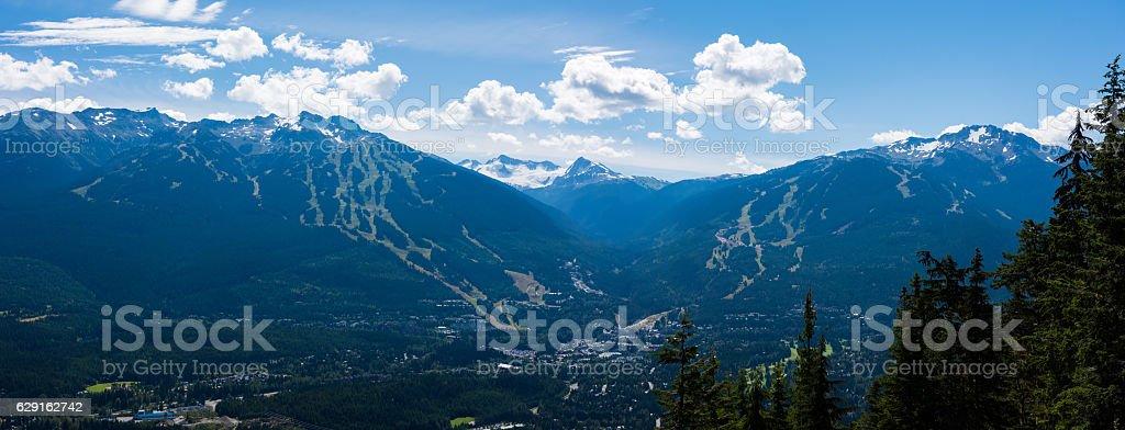 Whistler Blackcomb Mountains in summer stock photo