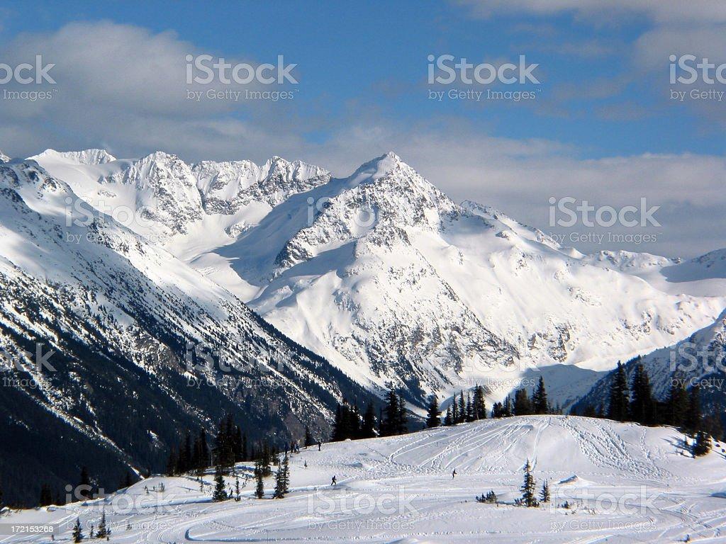 Whistler Canada - Snow covered mountains stock photo
