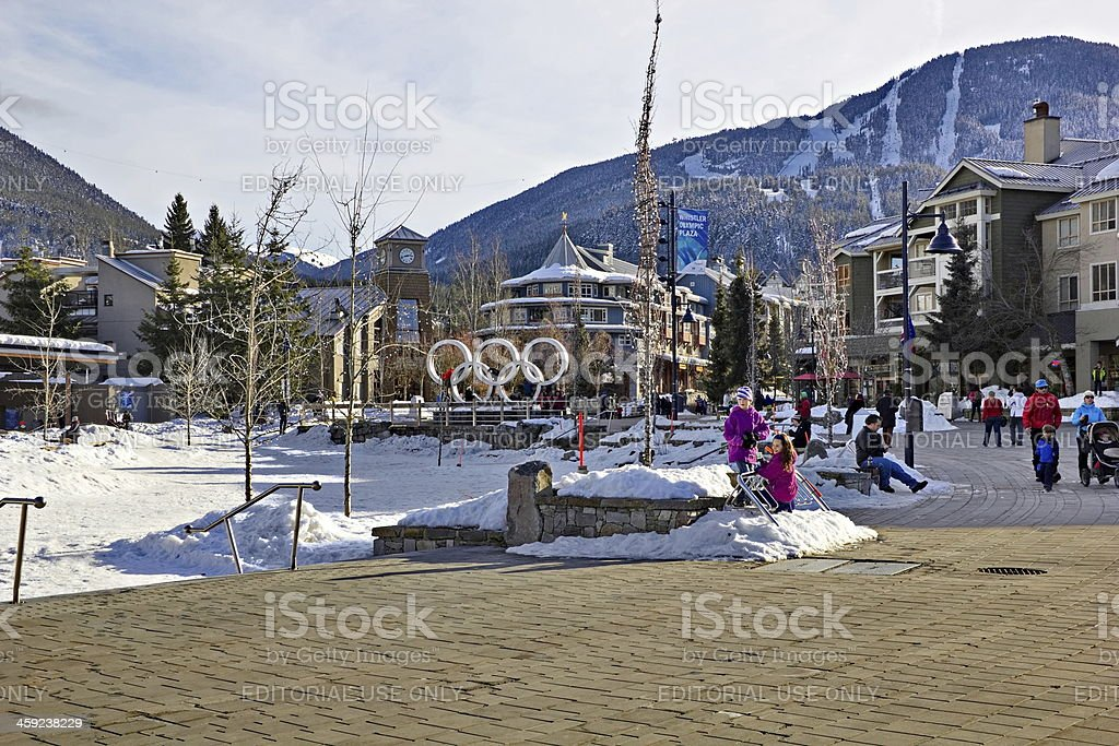 Whistler Olympic Village in Spring stock photo