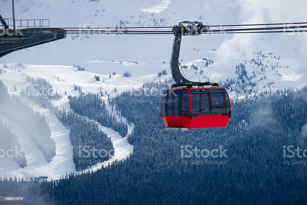Whistler ski resort in winter stock photo