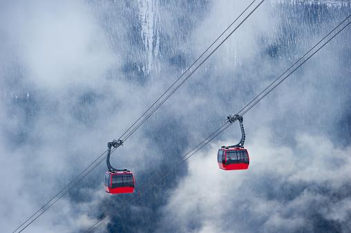 Whistler ski resort in winter