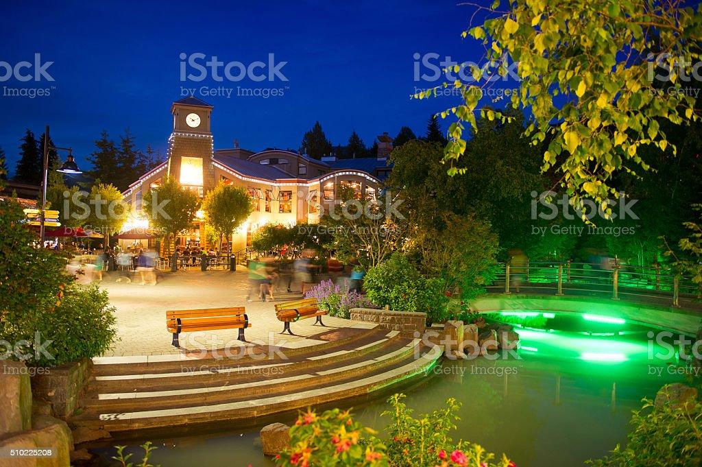 Whistler Village in summer stock photo