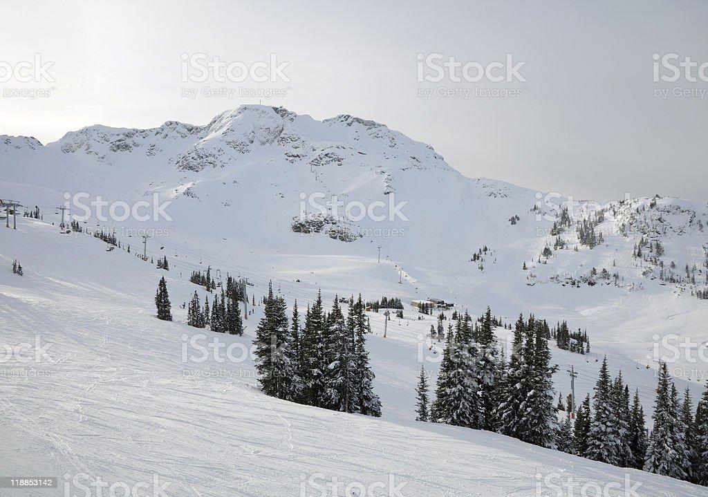 Whistler-Blackcomb ski resort royalty-free stock photo