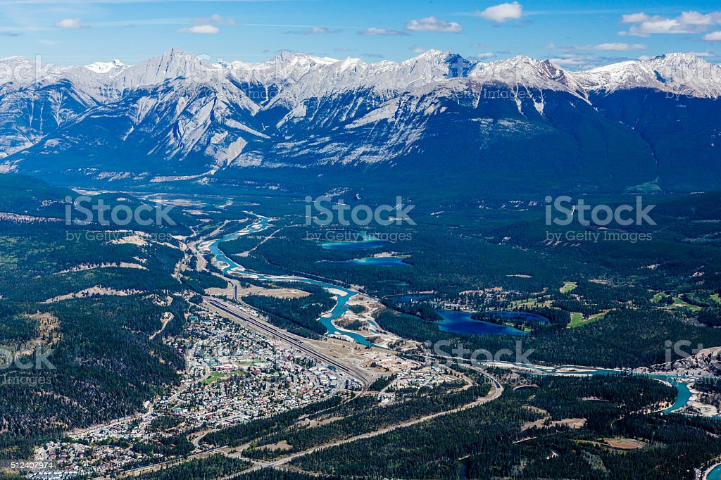 Whistlers Mountain, Jasper National Park stock photo