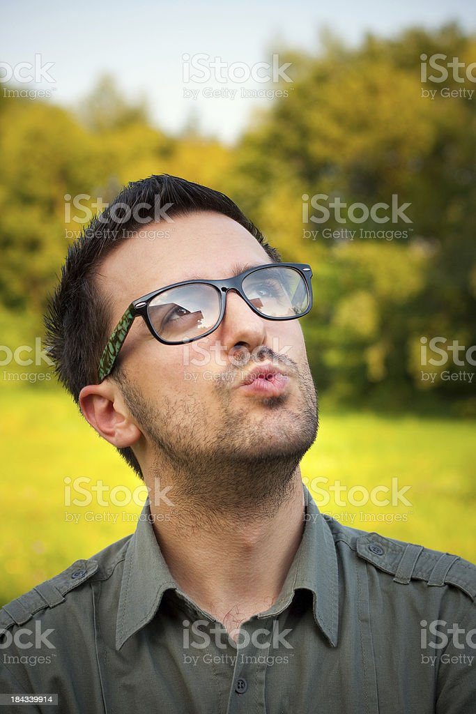 Whistling stock photo
