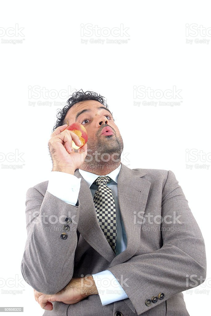 Whistling royalty-free stock photo