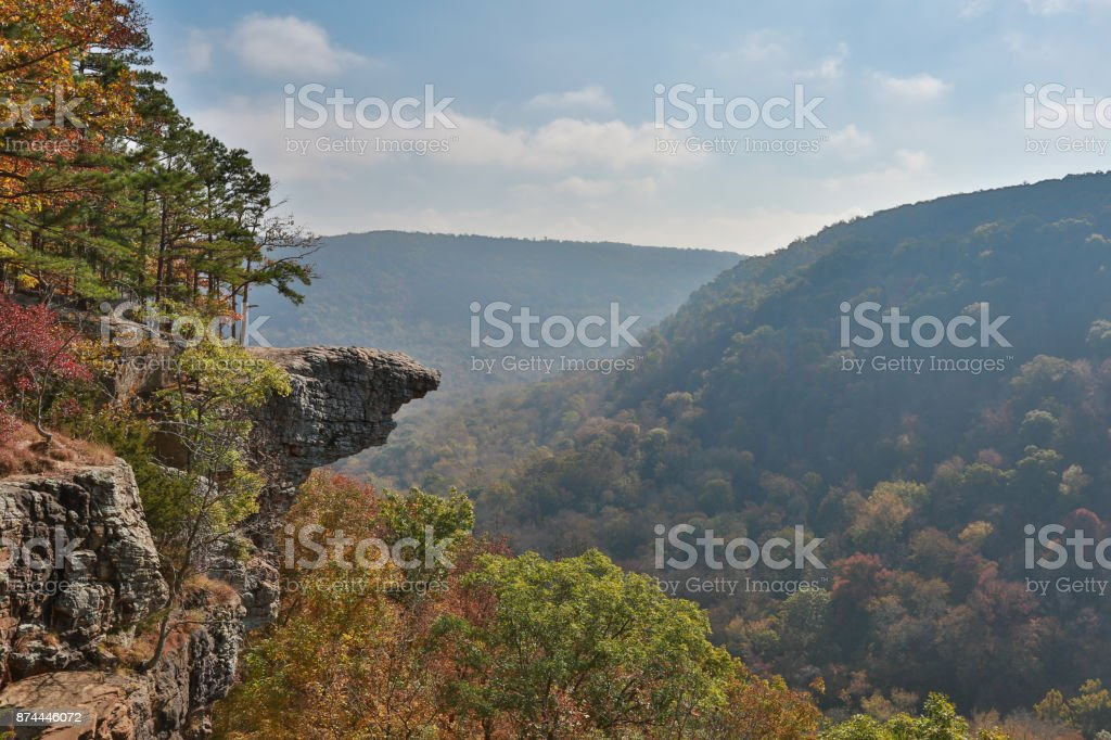 Whitaker point Hawksbill Crag stock photo