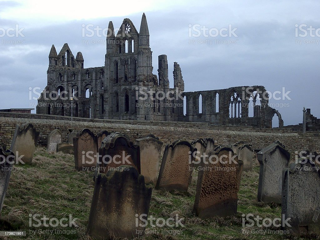 Whitby Abbey, England, home of Dracula royalty-free stock photo
