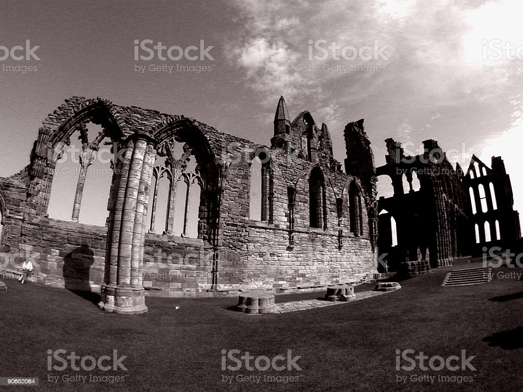 Whitby Abbey England royalty-free stock photo