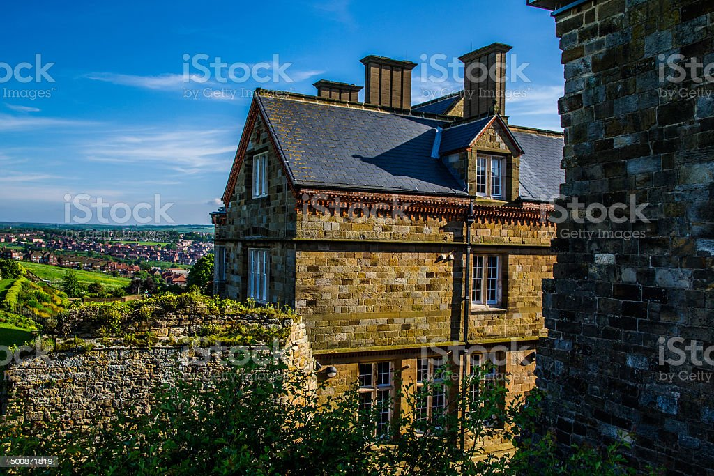 Whitby Abbey Museum royalty-free stock photo